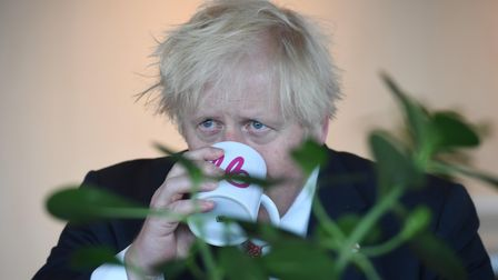 Prime Minister Boris Johnson during a visit to the offices of energy company Bulb in central London