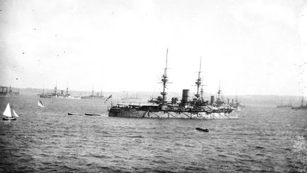 The Ironclads returning from the Diamond Jubilee Celebrations at the Spithead in 1897