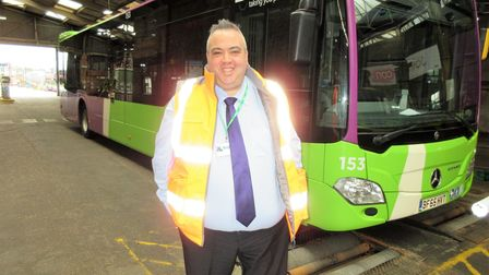 Stephen Bryce of Ipswich Buses