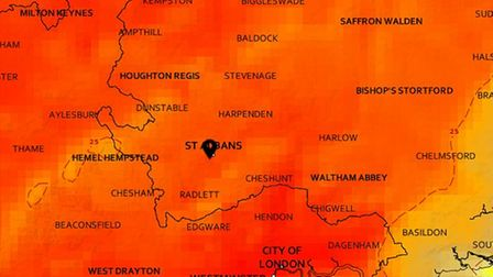 Parts of Hertfordshire could be hotter than Ibiza this weekend.