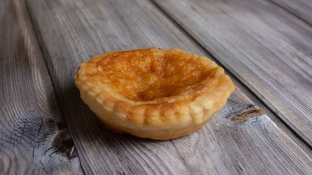 A single traditional bakewell pudding