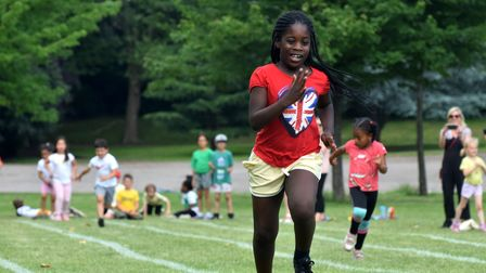 Sports Day for Rokesly Infant and Nursey school at Priory Park