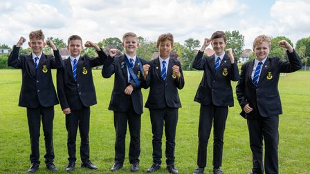 from left to right: Harry Hands, Daniel Tonu, Billie Coe, Marcel Winmill, Dylan Jones and Oliver Roberts.