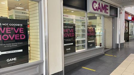 The empty Game unit in Market Gates.