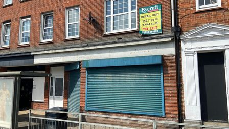 Empty unit in Great Yarmouth.