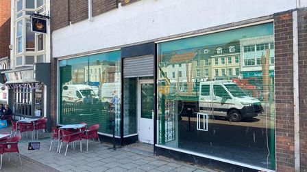 The empty unit on the Market Place which used to be Spar.