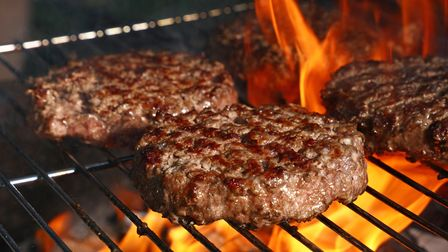 Barbecue burgers at Carver Green in Saul