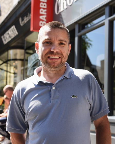 Michael Nicholson of Croppers barbers in the Norwich Lanes. Picture: DENISE BRADLEY
