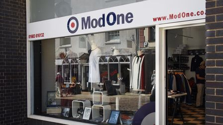 Mod One in the Norwich Lanes. Picture: DENISE BRADLEY