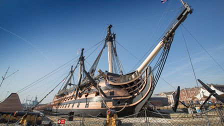 The National Museum of the Royal Navy's HMS Victory is a majestic sightat Portsmouth Historic Dockyard