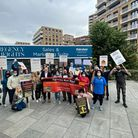 Protesters demand Fairview Homes' remediation costs aren't put on residents