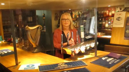 Sarah Haines-Allen in her pub, the Red Lion