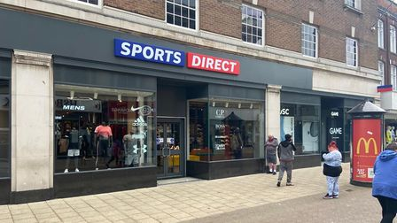 Sports Direct in Great Yarmouth town centre.