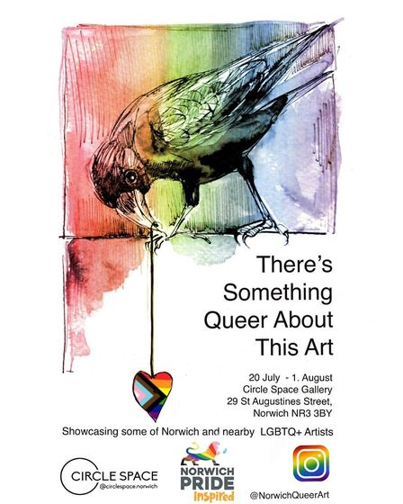 A poster for the There's Something Queer About This Art exhibition