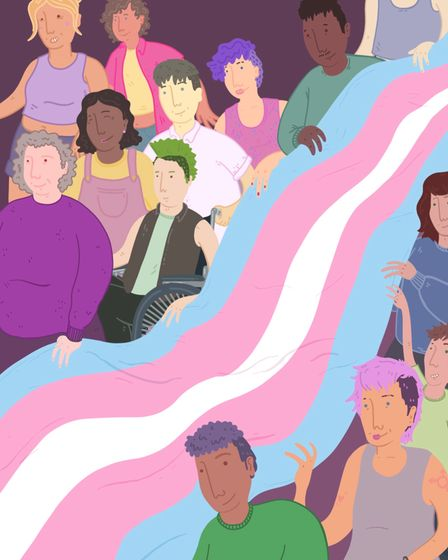 Trans Pride artwork by Crash King which will feature in the exhibition