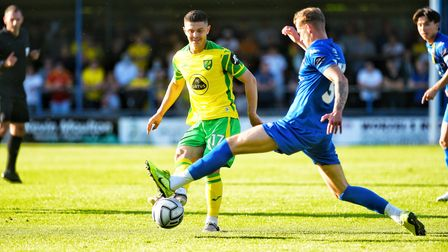 Norwich City fans got a first glimpse of summer signing Milot Rashica