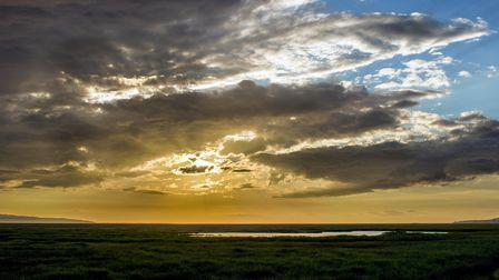Moody sunset over Parkgate, Wirral.