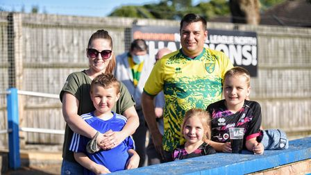 Fans enjoy the sunshine and the football at The Walks, as KIng's Lynn Town host Norwich City Picture