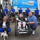 Staff from Anglian Demolitionare taking on the Dunwich Dynamo to raise money for Olivia Edwards, from Wymondham