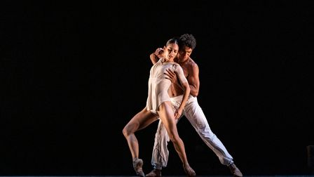 Two dancers from Carlos Acosta's show On Before at Norwich Theatre Royal