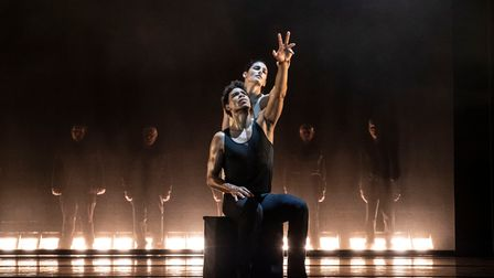 Two dancers from Carlos Acosta's On Before at Theatre Royal Norwich