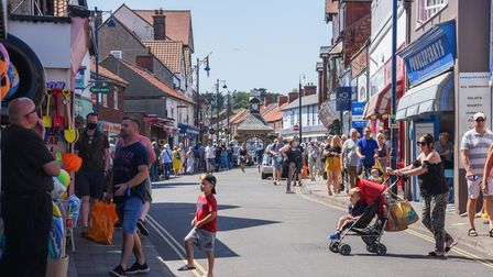 Lots of people enjoying Sheringham in the sunshine. Picture: Danielle Booden