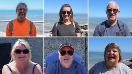 We asked people in Sheringham how they liked to spend hot summer days.