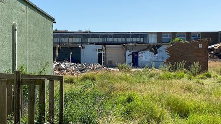 Buildings already starting to disappear at the old Deben site in Garrison Lane