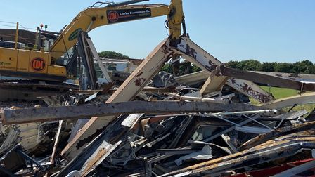 Materials from the demolished building will be recycled by CDC