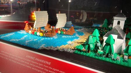 Viking invasions captured in Lego at the Brick History exhibition at The Hold