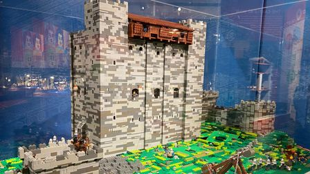 A detailed castle model at the Brick History exhibition this summer at The Hold in Ipswich