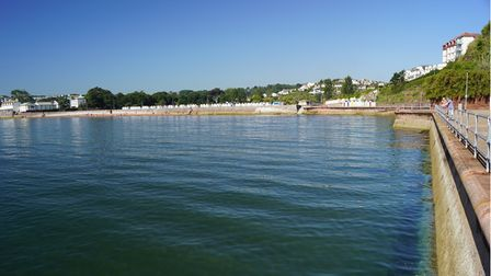 A view of Goodrington beach area from Roundham