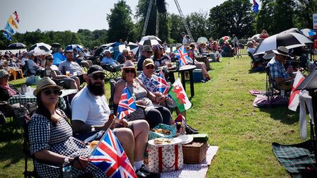 Audience members atthis year's 2021Battle Proms concert in Hatfield Park.