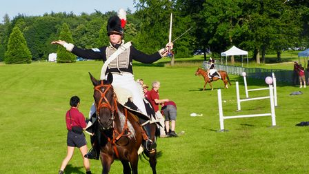A Napoleonic cavalry display at the Battle Proms concert in Hatfield Park.