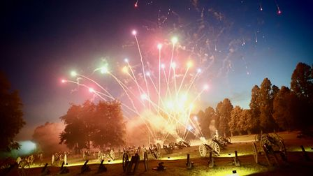 Fireworksat the 2021 Battle Proms concert in the grounds of Hatfield House.