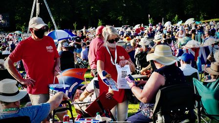Volunteers collecting for Battle Proms' charity partner,SSAFA - the Armed Forces charity