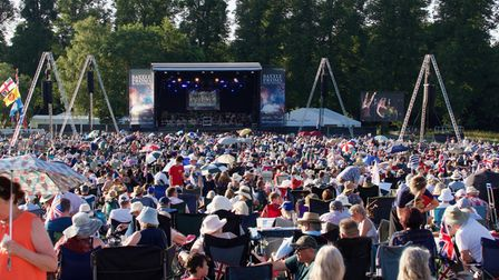 Thousands of people attendedthe 2021 Battle Proms concert at Hatfield House.