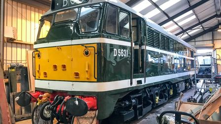 The diesellocomotive D5631 is joining the stable at the North Norfolk Railway, which runs between Sheringham and Holt.
