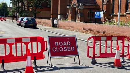 Part of Orwell Road at Felixstowe has been closed in both directions due to a sinkhole