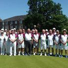 Hertfordshire Bowls president Terry Barker brought a team of his choosing to home club Potters Bar