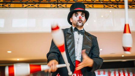You will be able to enjoy circus acts performing in the town centre.