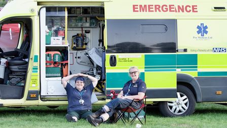 Emergency services were on hand just in case at Folk by the Oak 2021 in Hatfield Park.