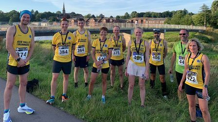 Axe Valley Runners in Exeter Quay race