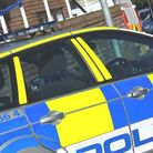Police appeal after car hit railings in Cromwell Road in St Neots on Sunday.
