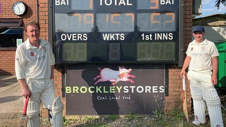 Charlie Grubb and Dan Dixon shared an unbroken 128-run stand for Cleeve seconds