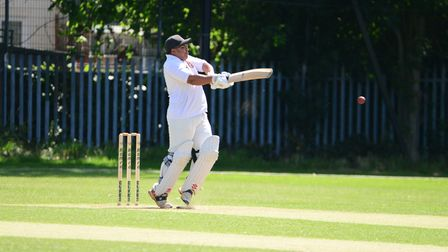 Newham in batting action against Hornchurch Athletic