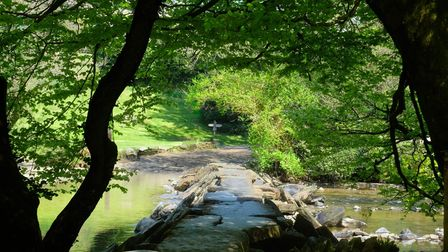 Beautiful Tarr Steps on Exmoor in the gorgeous Devon countryside.
