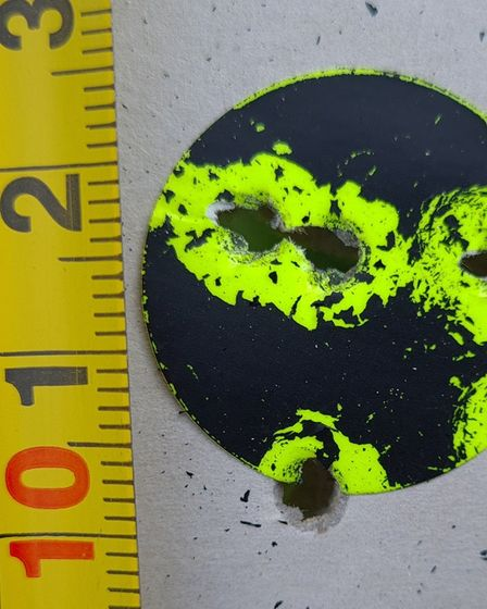 The HW100KT is a serious lead thrower at 100 yards