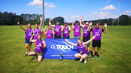 Nailsea Touch celebrate their success at St Mary's Old Boys