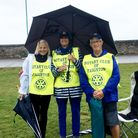 From left, Rotarians Louise Murry, Niki Bowman and Mike Kirkham help to marshal the English Riviera Triathlon.